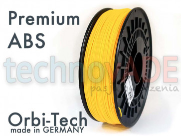 Filament 3D - Premium ABS 1.75 mm - Orbi-Tech - 750g - żółty