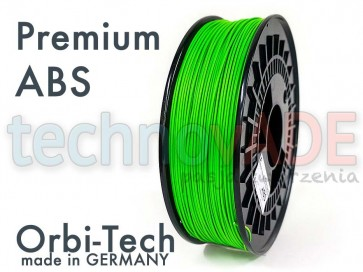 Filament 3D - Premium ABS 1.75 mm - Orbi-Tech - 750g - zielony