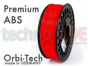 Filament 3D - Premium ABS 1.75 mm - Orbi-Tech - 750g - czerwony