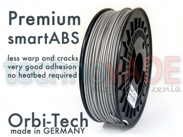 Filament 3D - Premium smartABS 3.00 mm - Orbi-Tech - 750g - srebrny
