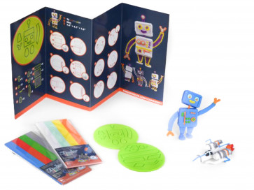 3Doodler Start - Doodle Block Kit Robot & Rocket Set - Szablony Kosmos