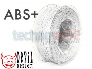 Filament 3D - ABS+ 1.75 mm - 1 kg - DevilDesign - biały
