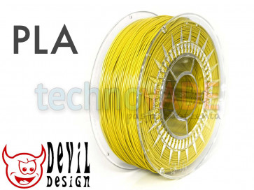 Filament 3D - PLA 1.75 mm - 1 kg - DevilDesign - żółty