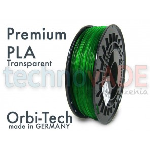 Filament 3D - Premium PLA 3.00 mm - Orbi-Tech - 750g - zielony transparentny