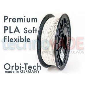 Filament 3D - Premium PLA Soft 1.75 mm - Orbi-Tech - 750g - biały
