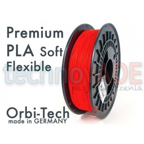 Filament 3D - Premium PLA Soft 1.75 mm - Orbi-Tech - 750g - czerwony