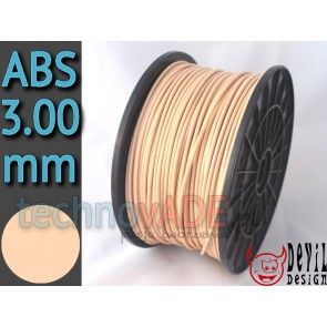 Filament 3D - ABS 3.00 mm - 1 kg - DevilDesign - beżowy