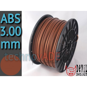Filament 3D - ABS 3.00 mm - 1 kg - DevilDesign - brązowy