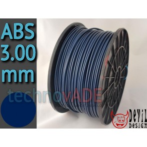 Filament 3D - ABS 3.00 mm - 1 kg - DevilDesign - granatowy