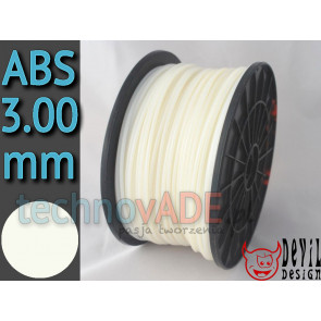Filament 3D - ABS 3.00 mm - 1 kg - DevilDesign - naturalny