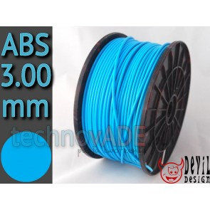 Filament 3D - ABS 3.00 mm - 1 kg - DevilDesign - niebieski
