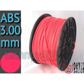 Filament 3D - ABS 3.00 mm - 1 kg - DevilDesign - różowy