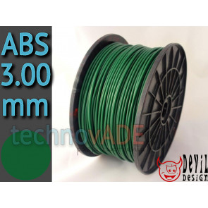 Filament 3D - ABS 3.00 mm - 1 kg - DevilDesign - zielony