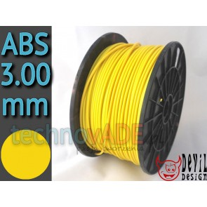 Filament 3D - ABS 3.00 mm - 1 kg - DevilDesign - żółty