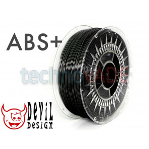 Filament 3D - ABS+ 1.75 mm - 1 kg - DevilDesign - czarny