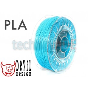 Filament 3D - PLA 1.75 mm - 1 kg - DevilDesign - błękitny