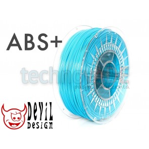 Filament 3D - ABS+ 1.75 mm - 1 kg - DevilDesign - błękitny