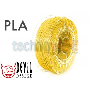 Filament 3D - PLA 1.75 mm - 1 kg - DevilDesign - jasny żółty