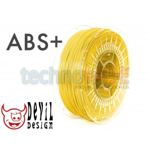 Filament 3D - ABS+ 1.75 mm - 1 kg - DevilDesign - jasny żółty
