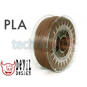 Filament 3D - PLA 1.75 mm - 1 kg - DevilDesign - brązowy