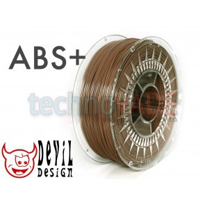 Filament 3D - ABS+ 1.75 mm - 1 kg - DevilDesign - brązowy