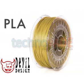Filament 3D - PLA 1.75 mm - 1 kg - DevilDesign - złoty