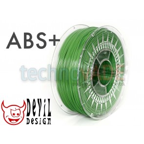 Filament 3D - ABS+ 1.75 mm - 1 kg - DevilDesign - zielony