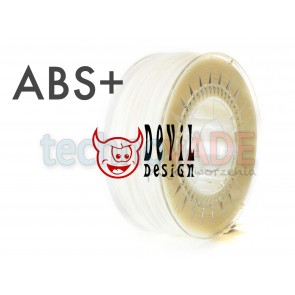 Filament 3D - ABS+ 1.75 mm - 1 kg - DevilDesign - naturalny
