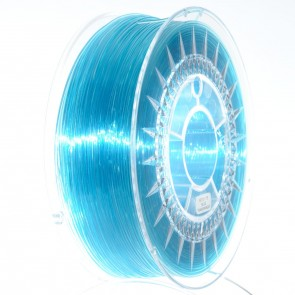 Filament 3D - PET-G 1.75 mm - 1 kg - DevilDesign - Błękitny transparentny