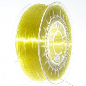 Filament 3D - PET-G 1.75 mm - 1 kg - DevilDesign - Jasny żółty transparentny