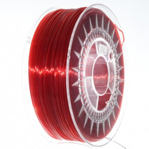 Filament 3D - PET-G 1.75 mm - 1 kg - DevilDesign - Transparentny czerwony