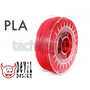 Filament 3D - PLA 1.75 mm - 1 kg - DevilDesign - czerwony