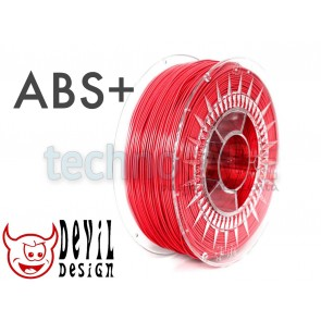 Filament 3D - ABS+ 1.75 mm - 1 kg - DevilDesign - czerwony
