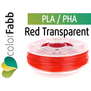 colorFabb Red Transparent 1,75 mm PLA PHA 750g