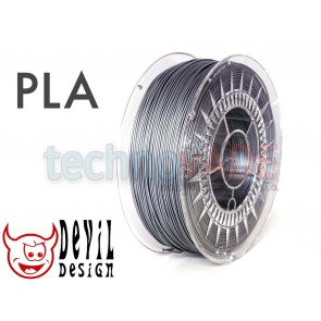 Filament 3D - PLA 1.75 mm - 1 kg - DevilDesign - srebrny