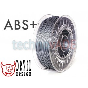 Filament 3D - ABS+ 1.75 mm - 1 kg - DevilDesign - srebrny