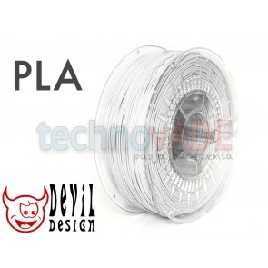 Filament 3D - PLA 1.75 mm - 1 kg - DevilDesign - biały