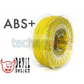 Filament 3D - ABS+ 1.75 mm - 1 kg - DevilDesign - żółty